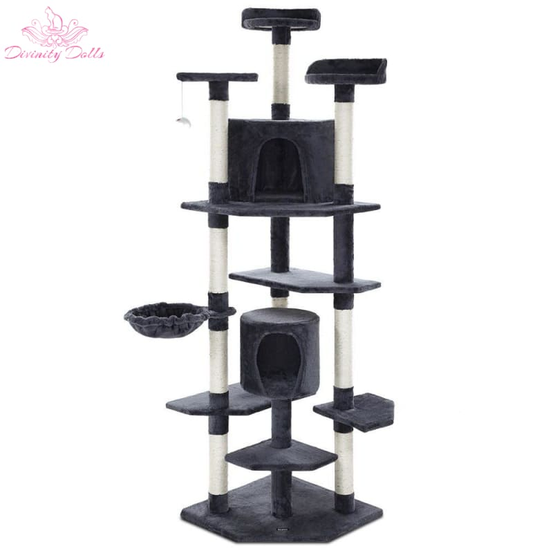 i.Pet Cat Tree Trees Scratching Post Scratcher Tower Condo House Furniture Wood - Pet Care