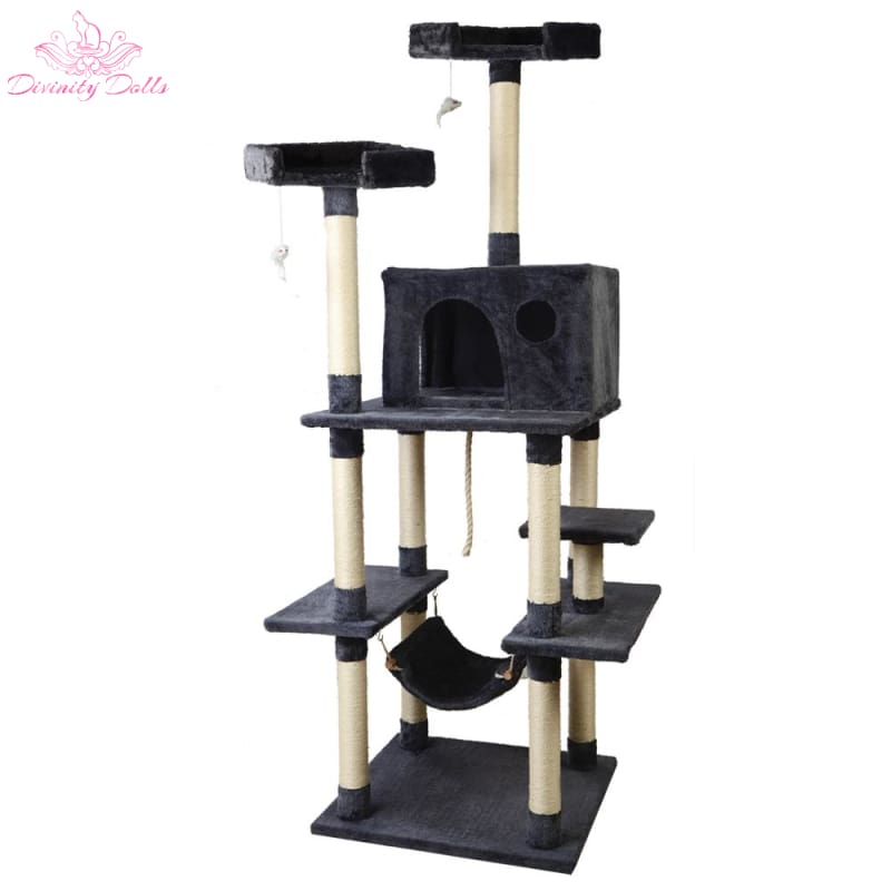 i.Pet Cat Tree Trees Scratching Post Scratcher Toys Condo House Furniture Wood - Pet Care
