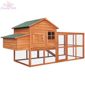 i.Pet Chicken Coop Coops Wooden Rabbit Hutch Hen Chook House Ferret Large Run XL - Pet Care