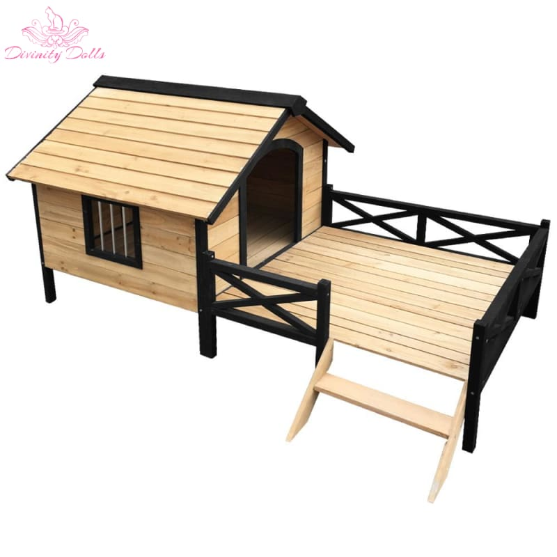 i.Pet Dog Kennel Kennels Outdoor Wooden Pet House Puppy Extra Large XXL Outside - Pet Care