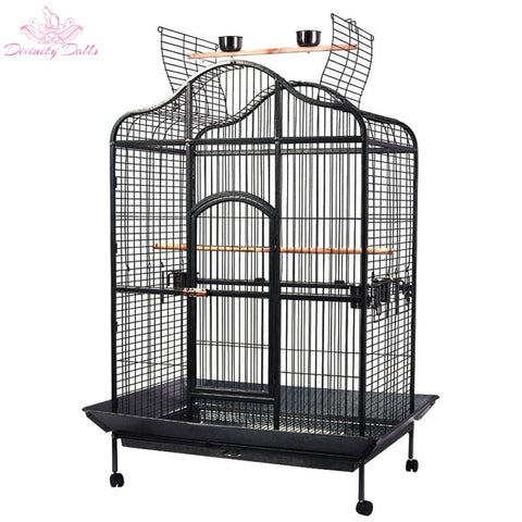 i.Pet Extra Large Bird Cage with Perch - Black - Pet Care