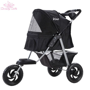 i.Pet Pet Stroller Dog Carrier Foldable Pram Large Black - Pet Care