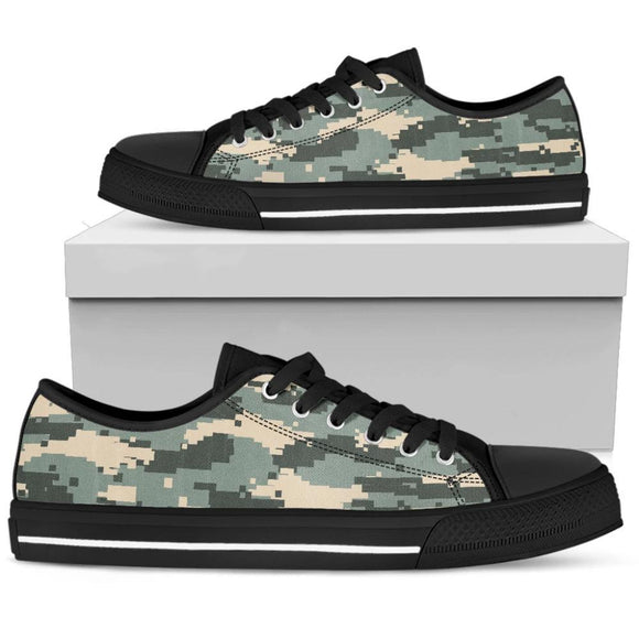 High Top and Low Top shoes - Pixel Camouflage - Women & Men - Forge&Craft