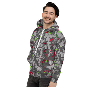 Lucky Hoodie - Lucky Shamrock - Graffiti Grey - Forge&Craft