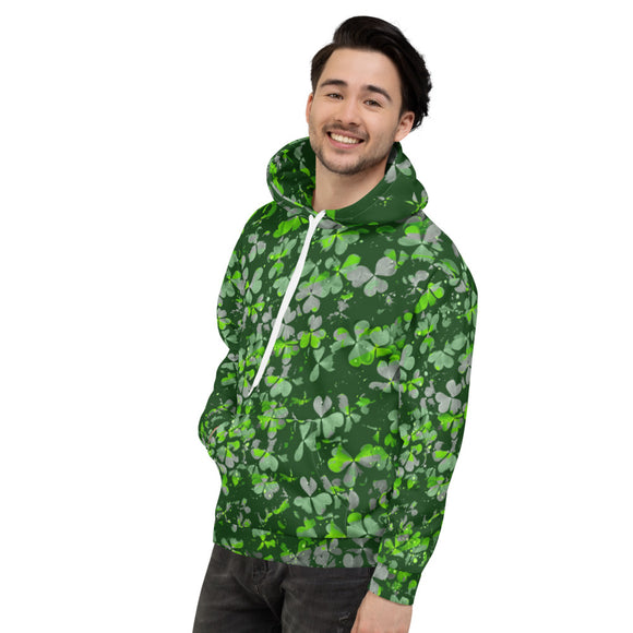 Shamrock Camouflage Hoodie (Grey and Green) - Forge&Craft