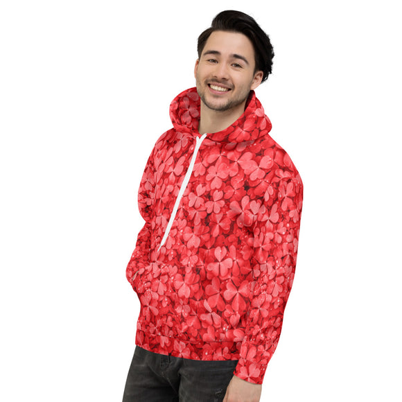 Lucky Hoodie - Lucky Shamrock - Red - Forge&Craft