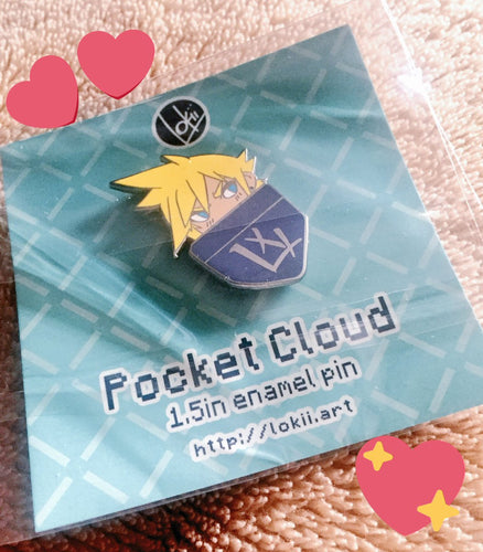 Pocket Cloud Enamel Pin