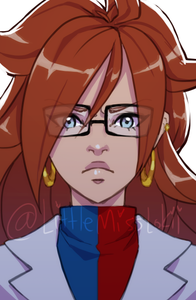 Android 21 - 11x17 Poster Print