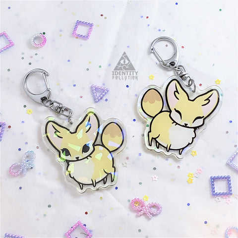 Fennec Fox Holo Fat Animal Charm