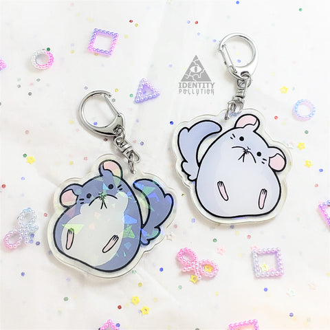 Chinchilla Holo Fat Animal Charm