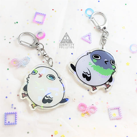 Pigeon/Dove Holo Fat Animal Charm