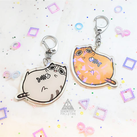 Cat Holo Fat Animal Charm