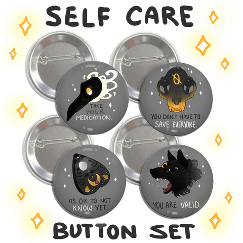Self Care Button Set (4)
