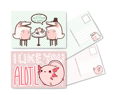 Fat Animal Postcard Set (2)