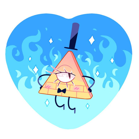 Dirty Triangle Heart Button