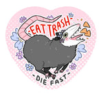 Eat Trash Opossum Heart Button