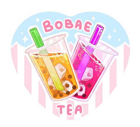 Bobae Tea Heart Button