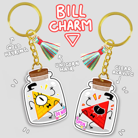 Bottle O' Bill Acrylic Charm