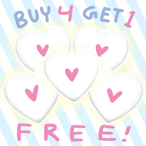 Buy 4 Get 1 FREE (Large Buttons)