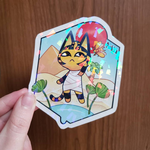 Ankha Holographic Art Amiibo Card