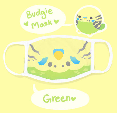 Green Budgie BIRB Adjustable Mask with Filter