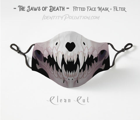Clean Cut -Jaws of Death- Adjustable Mask with Filter PRE-ORDER⏰
