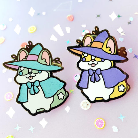 Corgi Witch Hard Enamel Pin