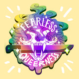 FEARLESS QUEERNESS Rainbow Enamel Pin
