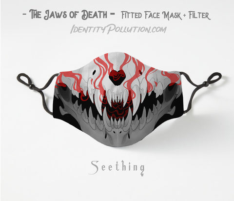 Seething -Jaws of Death- Adjustable Mask with Filter PRE-ORDER⏰