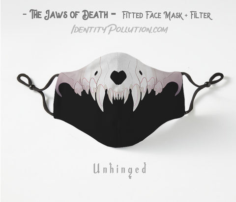 Unhinged -Jaws of Death- Adjustable Mask with Filter PRE-ORDER⏰