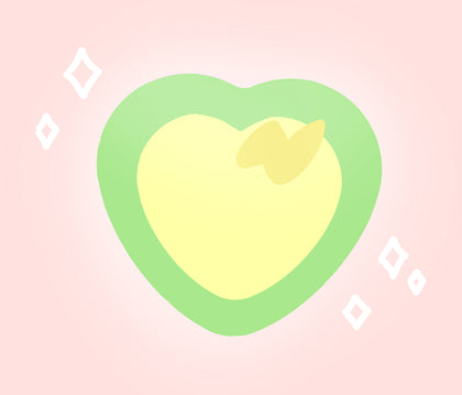 Yamper Heart BUTTon