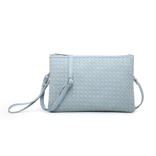 CHECKERBOARD-PATTERN CLUTCH BAG