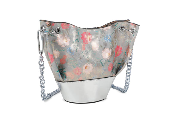 FLOWERY BUCKET BAG - VIAVOLTURNO