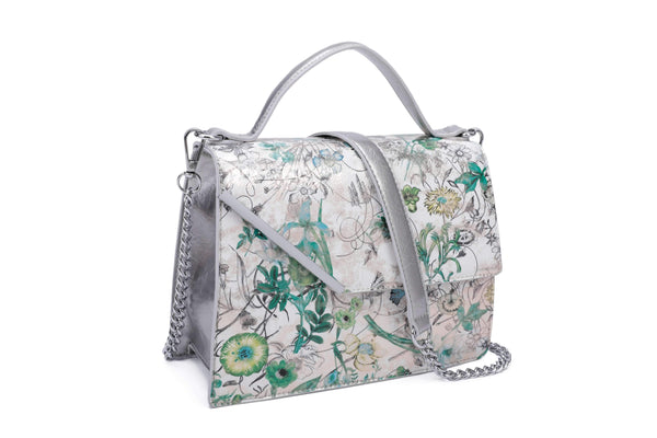 FLOWERY HANDBAG WITH FLAP - VIAVOLTURNO