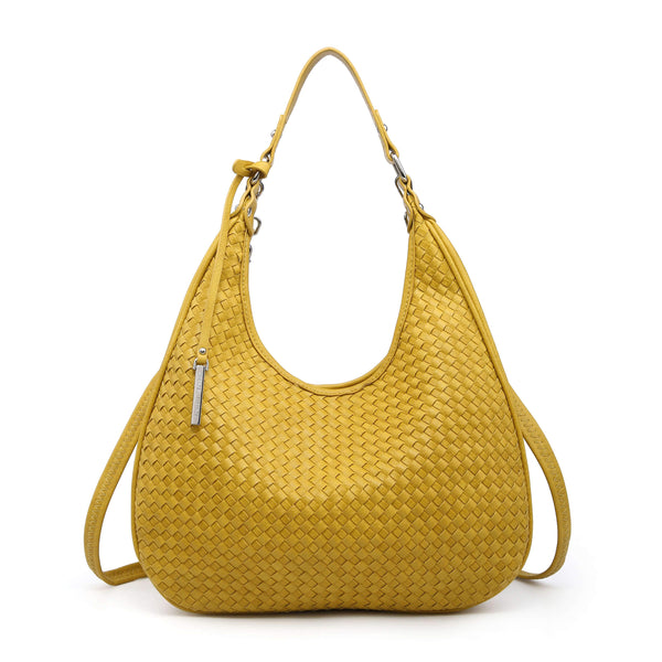HOBO BAG WITH CHECKERBOARD PATTERN
