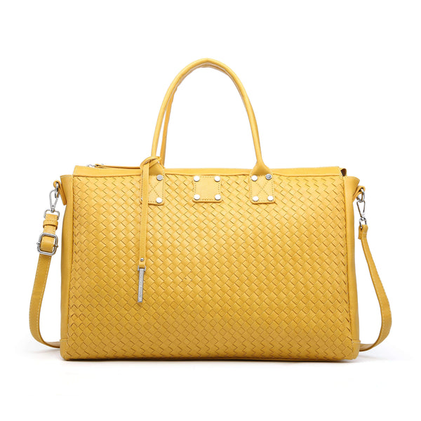 HOLDALL WITH CHECKERBOARD PATTERN
