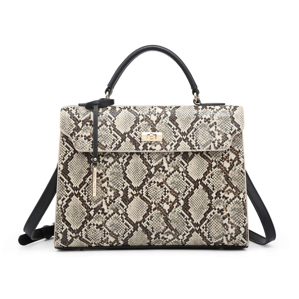 Python Pattern Kelly Bag - VIAVOLTURNO