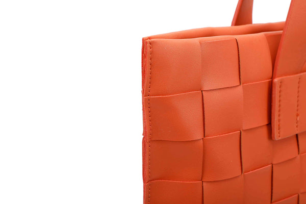 TOTE BAG WITH CHECKERBOARD PATTERN - VIAVOLTURNO