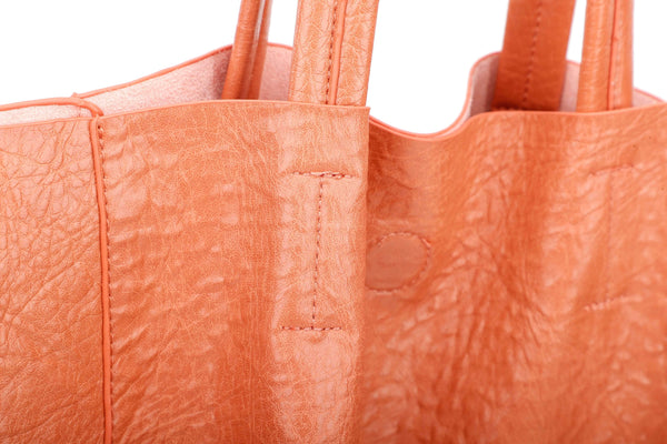 TOTE BAG WITH STUDDED FAUX LEATHER STRAP - VIAVOLTURNO