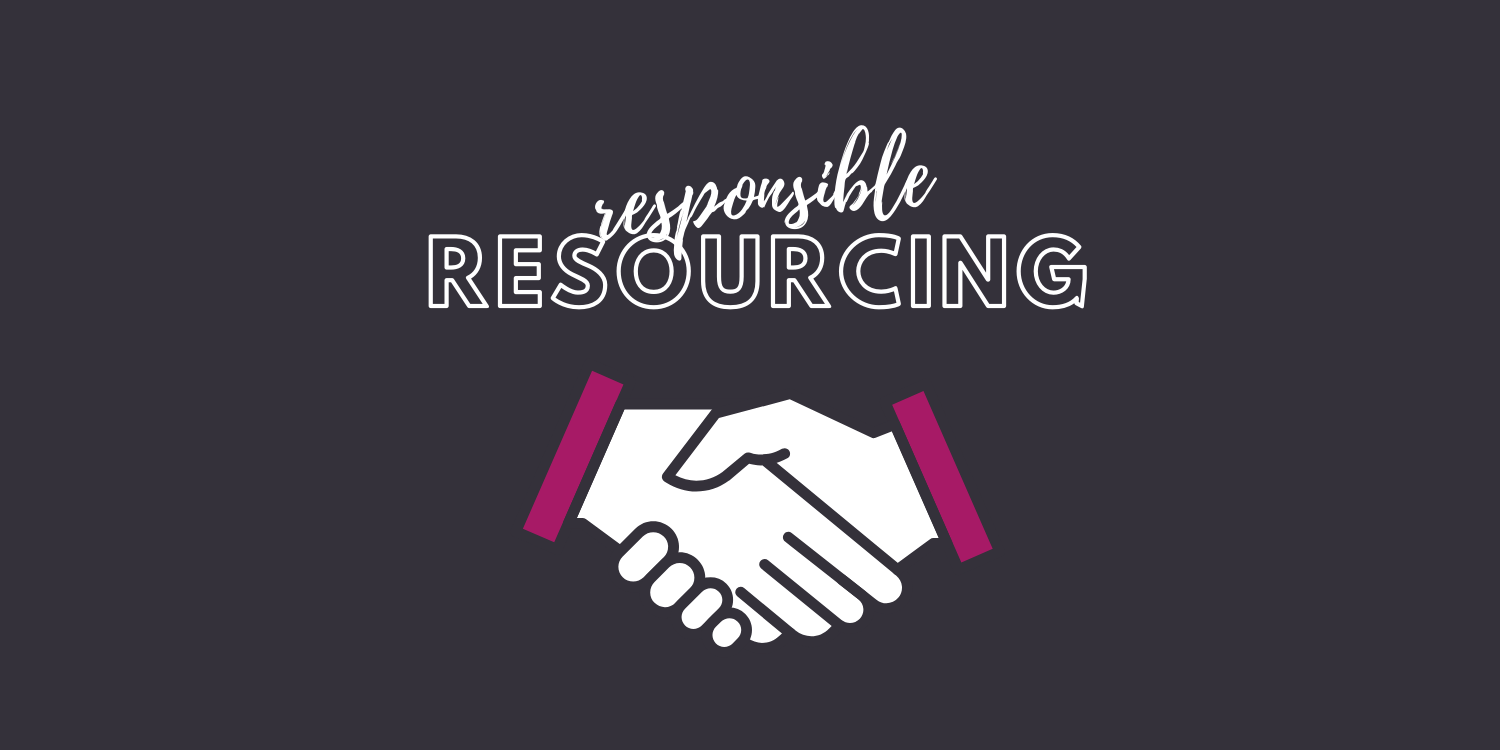 Handshake image. How we source our partners responsibly.