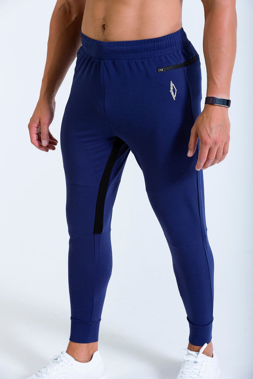 Vitesse 7/8 mens jogger, jogging bottoms in blue
