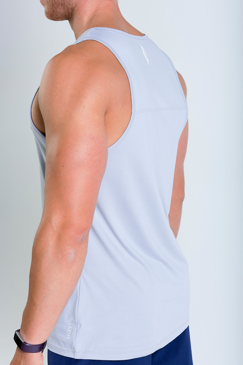 Mens Lumiere Vest tank top in grey side view