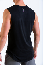 Mens HangFit sleeveless t-shirt black rear view