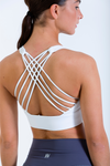 Serenity Bra in white rear view