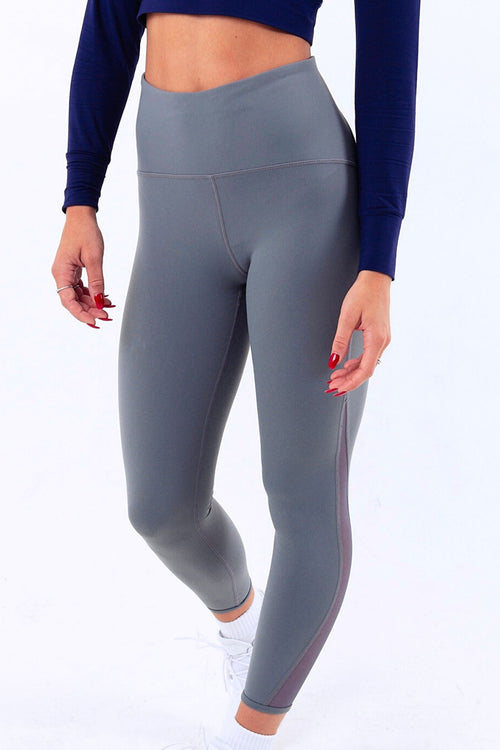 Accelerer high waisted gym leggings Grey