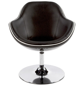 Daytona Armchair comes in black and red and white with a modern style and is available from roomshaped.co.uk