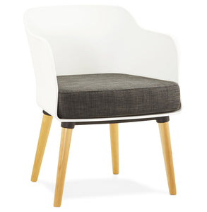 Mysik Armchair comes in black and grey and white with a modern style and is available from roomshaped.co.uk