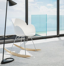 Load image into Gallery viewer, Knebel Armchair comes in black and blue and grey and pink and white with a modern style and is available from roomshaped.co.uk