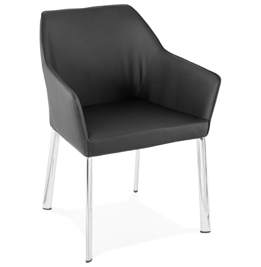 Livingston Armchair comes in black with a modern style and is available from roomshaped.co.uk