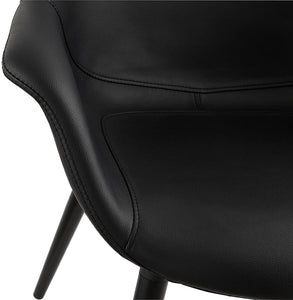 Melrose Armchair comes in black with a modern style and is available from roomshaped.co.uk